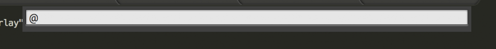 the @ goto bar in sublime text editor