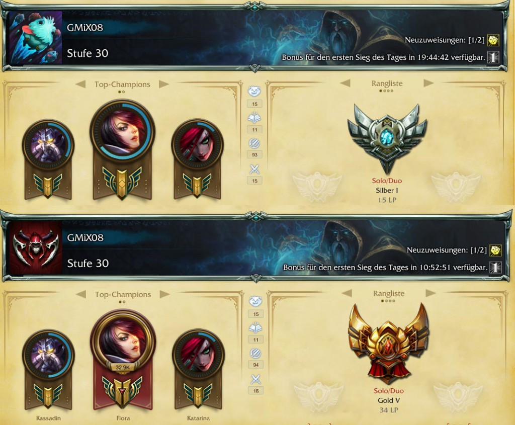 silver auf gold LoL GMiX08 Ranked Guide