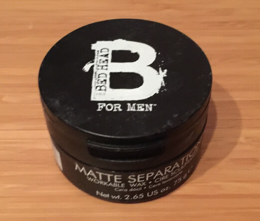 Haarwachs Test 4# Platz Tigi Bed Head FOR MEN Matte Separation 75 Gramm